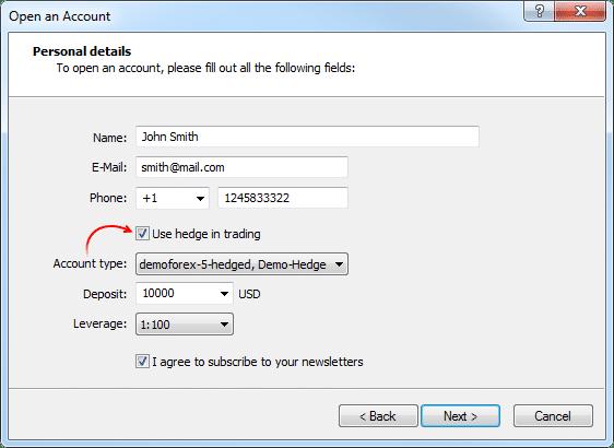 MetaQuotes, MetaTrader 5, hedging